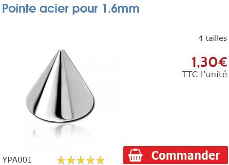 Pointe acier pour 1.6mm