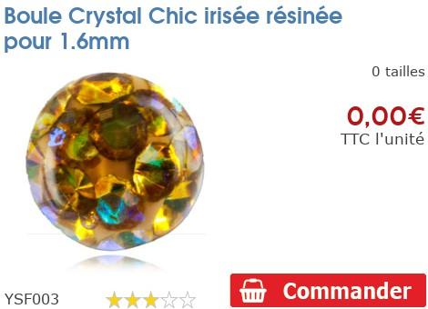 Boule Crystal Chic irisée résinée pour 1.6mm