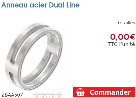 Anneau acier Dual Line