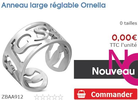 Anneau large réglable Ornella
