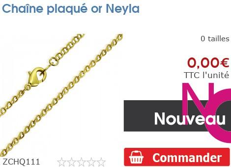 Chaîne plaqué or Neyla
