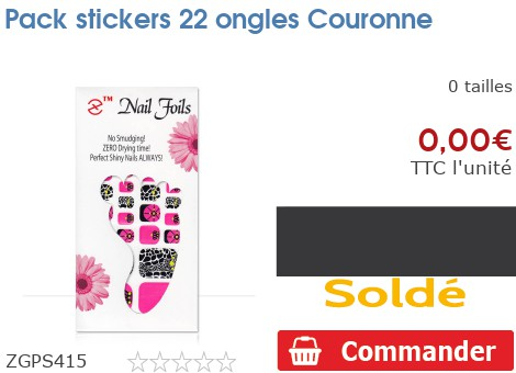Pack stickers 22 ongles Couronne