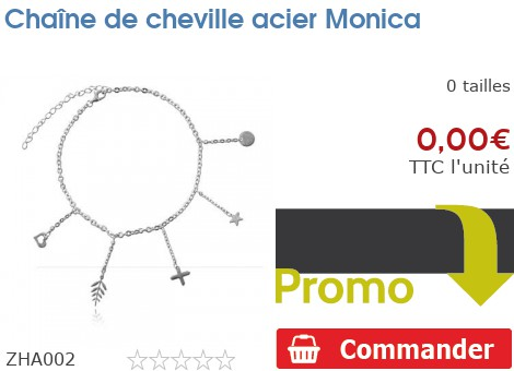 Chaîne de cheville acier Monica