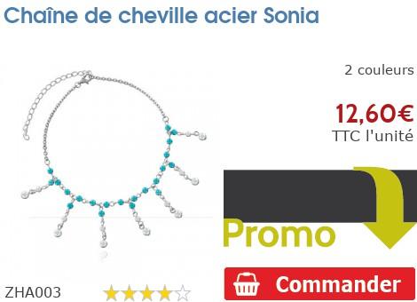 Chaîne de cheville acier Sonia