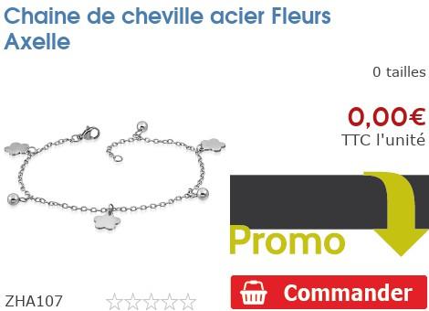 Chaine de cheville acier Fleurs Axelle