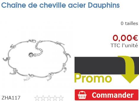 Chaîne de cheville acier Dauphins