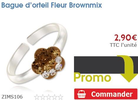 Bague d'orteil Fleur Brownmix