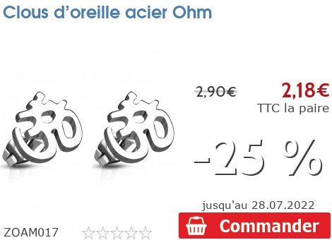 Clous d'oreille acier Ohm