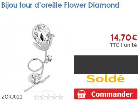 Bijou tour d'oreille Flower Diamond