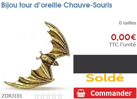 Bijou tour d'oreille Chauve-Souris
