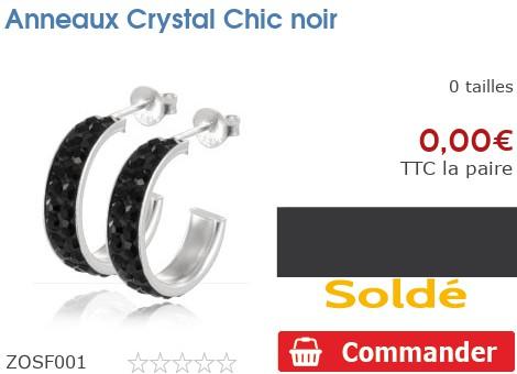 Anneaux Crystal Chic noir