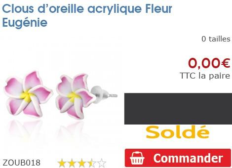 Clous d'oreille acrylique Fleur Eugénie