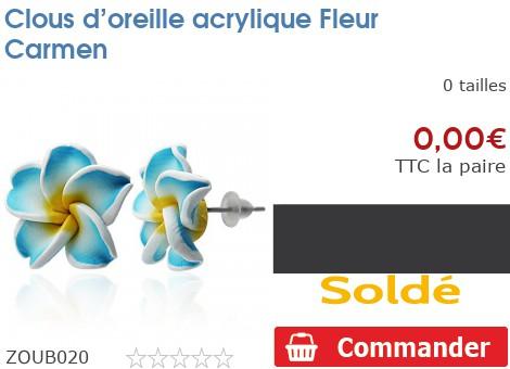 Clous d'oreille acrylique Fleur Carmen