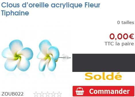 Clous d'oreille acrylique Fleur Tiphaine