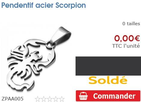 Pendentif acier Scorpion