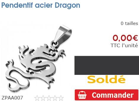 Pendentif acier Dragon