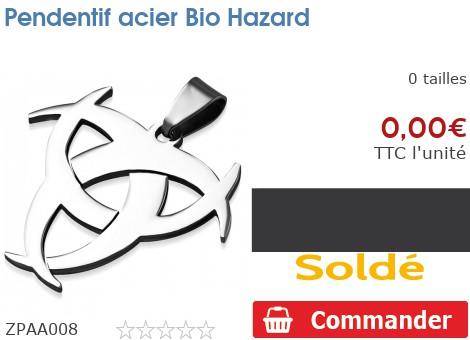 Pendentif acier Bio Hazard