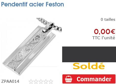 Pendentif acier Feston