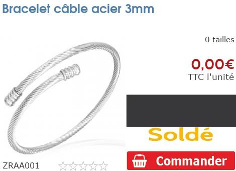 Bracelet câble acier 3mm