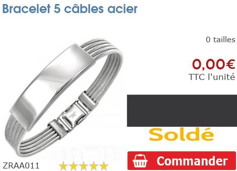 Bracelet 5 câbles acier