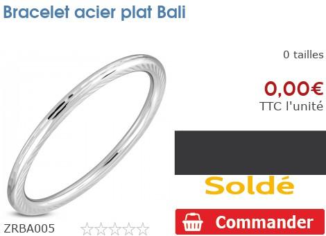 Bracelet acier plat Bali