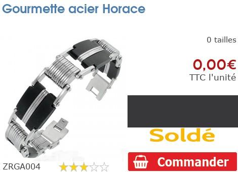 Gourmette acier Horace
