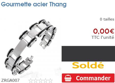 Gourmette acier Thang
