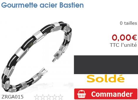 Gourmette acier Bastien
