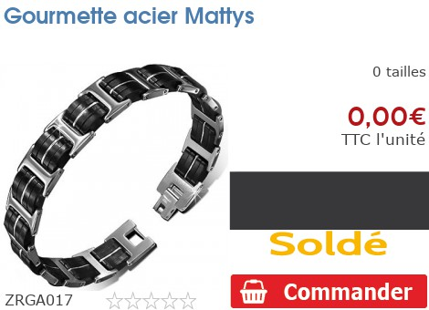 Gourmette acier Mattys