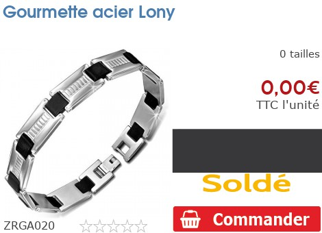 Gourmette acier Lony