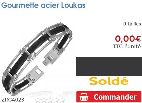 Gourmette acier Loukas