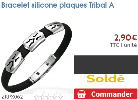 Bracelet silicone plaques Tribal A